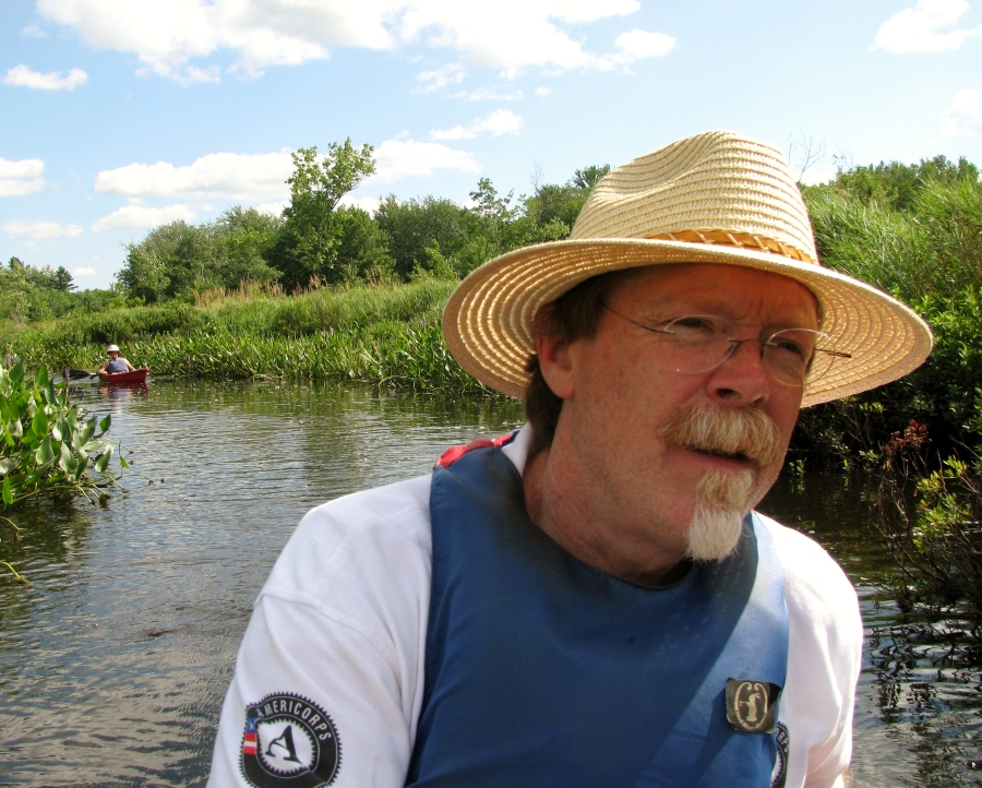 Keith Davies on the Otter River by Dee Robbins