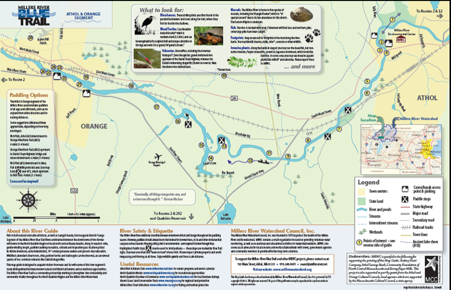Millers River Blue Trail Map 2012