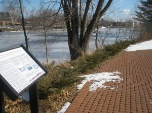 Pervious pavement at Orange Riverfront Park by Ivan Ussach