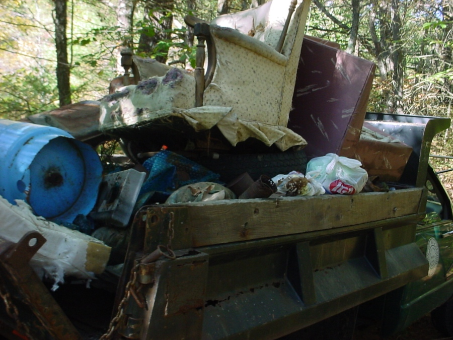 A truck load of trash after river cleanup in Winchendon by Ivan Ussach