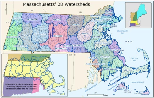 Watersheds in Massachusetts