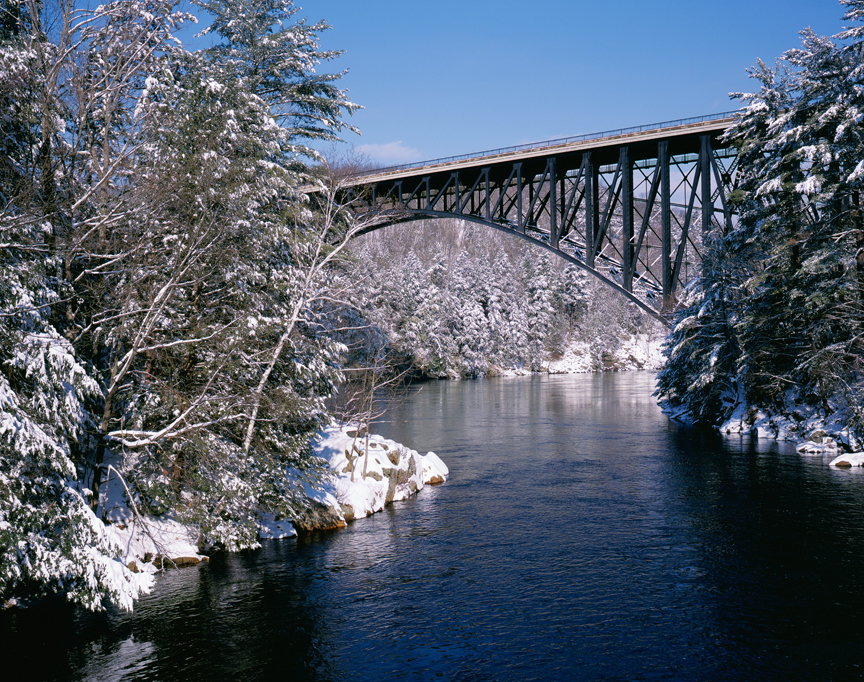 Confluence of Millers and Connecticut Rivers with French King Bridge, Erving, MA